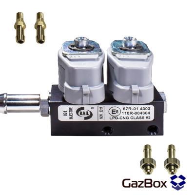 RAIL IG1 2 ом газовые форсунки на 2 цилиндра